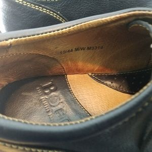 Born Shoes - BORN Oxford Black Pebble Mens Size 10 Shoes